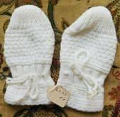 Vintage toddler mittens Viyella Royalist Orlon UNUSED 1950s childrens gloves